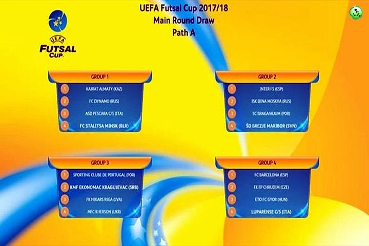 Sorteo UEFA Futsal Cup 17-18