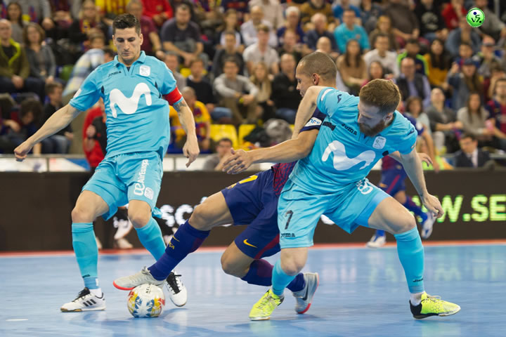 Tablas entre FC Barcelona y Movistar Inter
