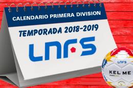 Calendario Primera LNFS 18-19