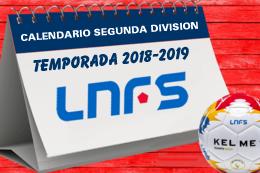 Calendario Segunda LNDS 18-19