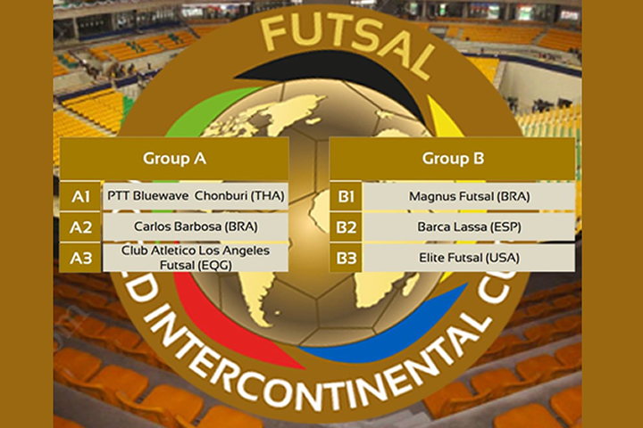 Calendario Copa Intercontinnetal Futsal 2018