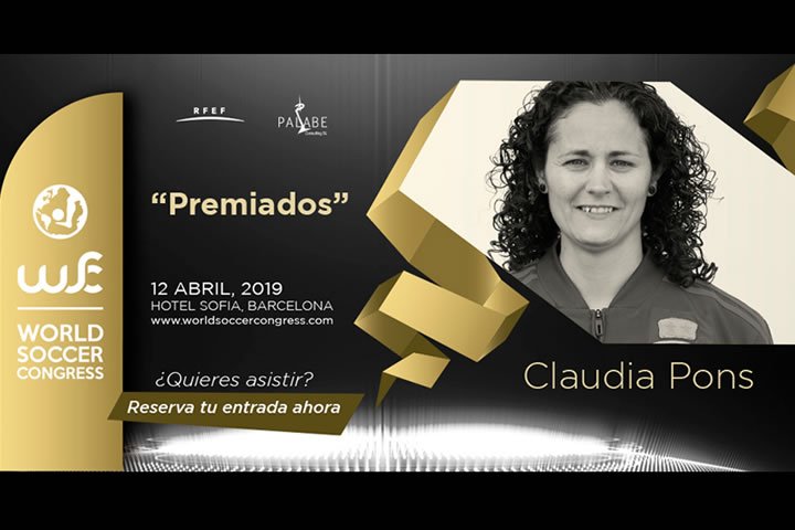 Claudia Pons premiada en el World Soccer Congress