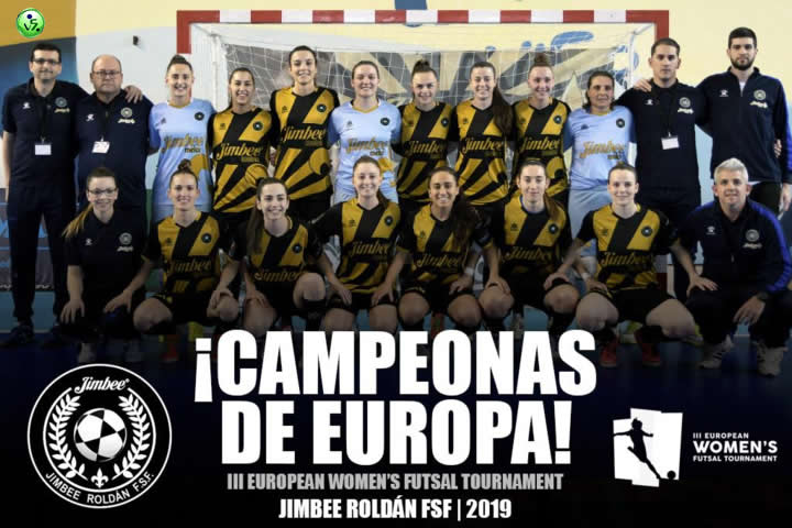 Jimbee Roldan FSF Campeon de Europa