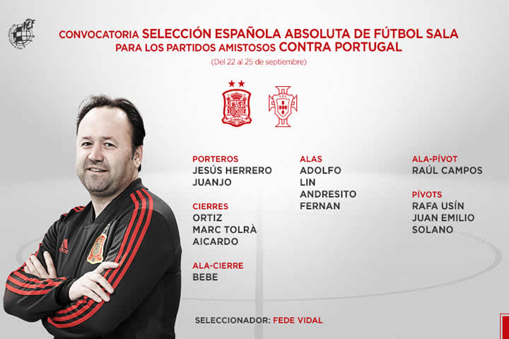 Convocatoria contra Portugal 2019