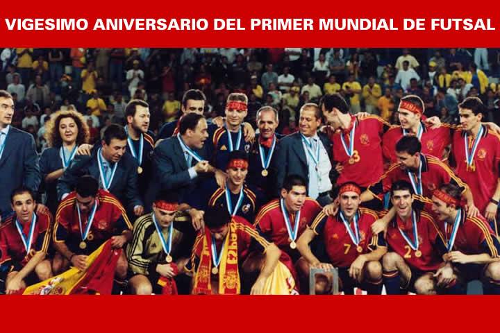20 aniversario del primer mundial de futsal