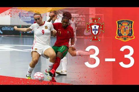 RESUMEN| La Selección de Fútbol Sala Femenina confirma con un empate su enorme trabajo ante Portugal