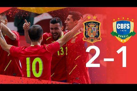 RESUMEN | España 2-1 Brasil. Amistoso Fútbol Sala