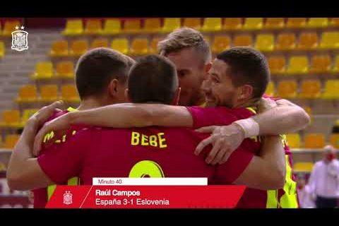 RESUMEN | España 3-1 Eslovenia | Fase de Clasificación al Europeo de Fútbol Sala de 2022