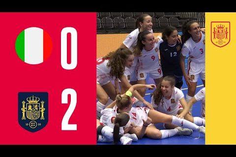 RESUMEN | España suma otro triunfo en el Preeuropeo al imponerse a Italia por 0-2 | 🔴 SEFUTBOL